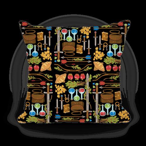 Fantasy RPG Adventurer Kit Pillow