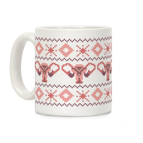 Uterus Sweater Pattern Coffee Mug