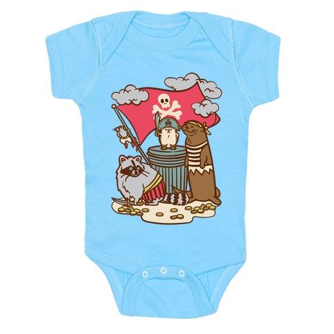 Captain Hedgie's Salty Crew Baby One-Piece