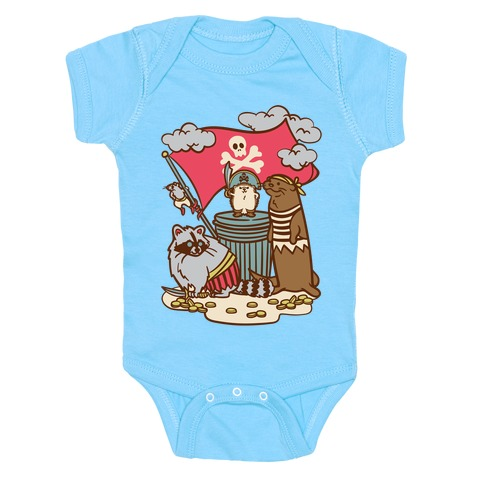 Captain Hedgie's Salty Crew Baby One-Piece