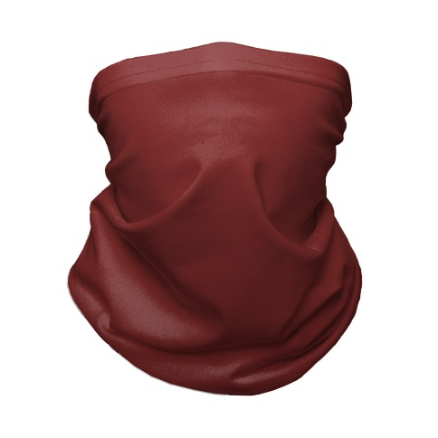 Burgundy Gradient Neck Gaiter