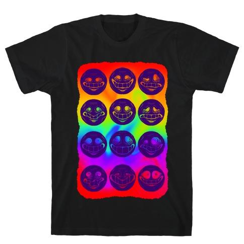 Ominous Faces Rainbow T-Shirt