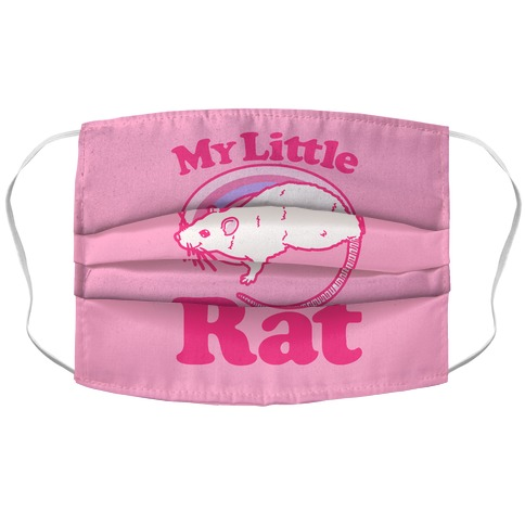My Little Rat Parody Accordion Face Mask