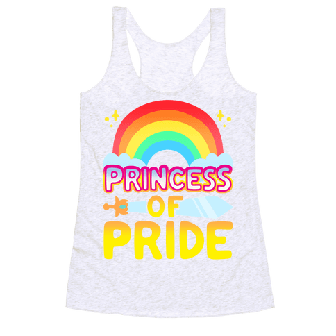 Princess of Pride Parody Racerback Tank Top