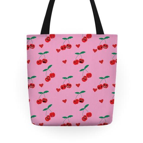 Cherry Love Pattern Tote