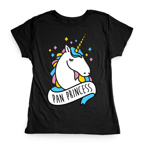 Pan Princess Unicorn Womens T-Shirt