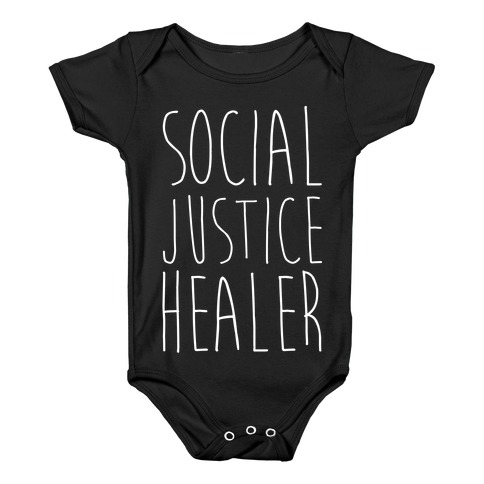 Social Justice Healer Baby Onesy