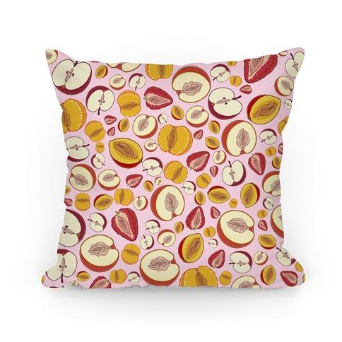 Fruity Vaginas Pattern Pillow