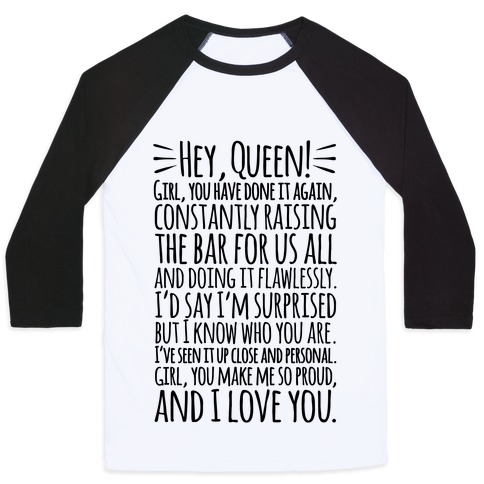 Hey Queen Michelle Obama Quote Baseball Tee