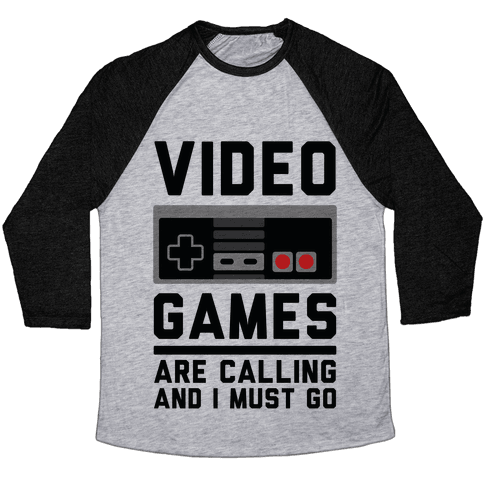 Video Games Are Calling Baseball Tee