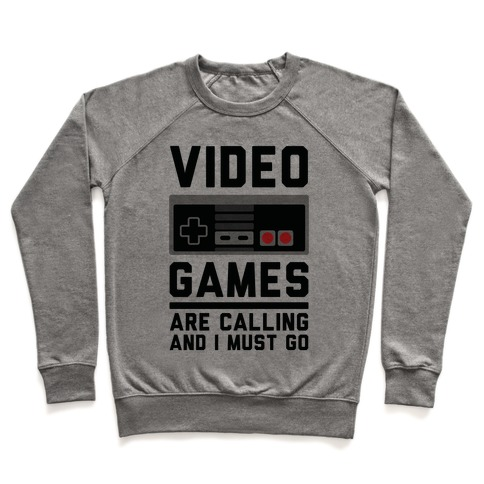 Video Games Are Calling Pullover