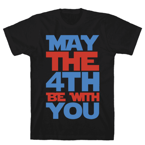 May The 4th Be With You Parody White Print Mens T-Shirt
