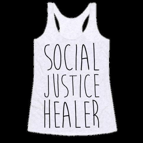 Social Justice Healer Racerback Tank Top