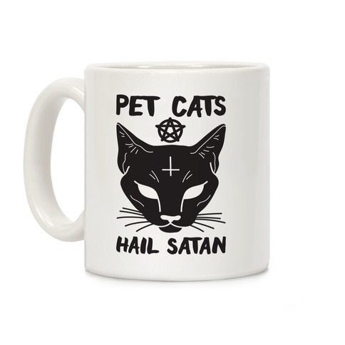 Pet Cats Hail Satan Sphynx Coffee Mug