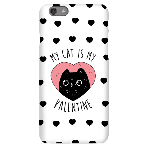 My Cat is My Valentine Phone Case