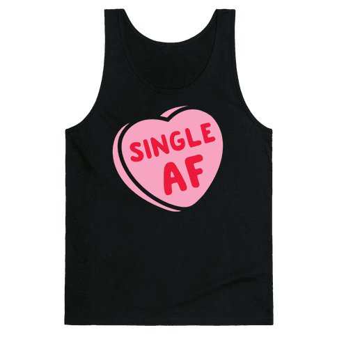 Single AF Candy Heart Tank Top