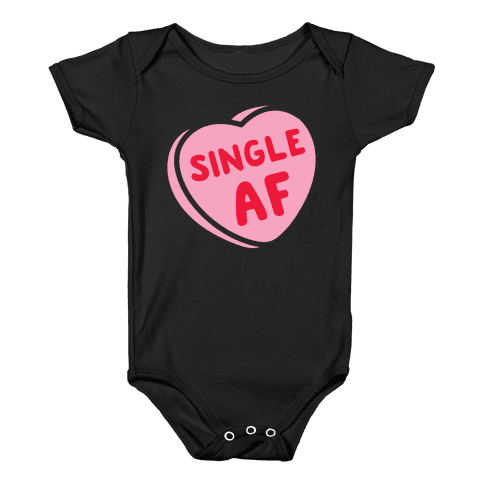 Single AF Candy Heart Baby Onesy