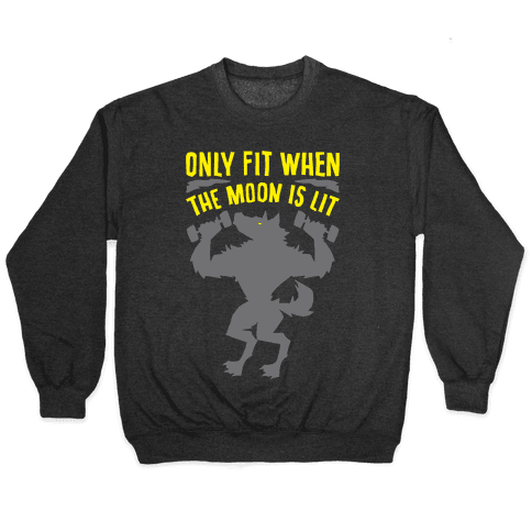 Only Fit When The Moon Is Lit White Print Pullover