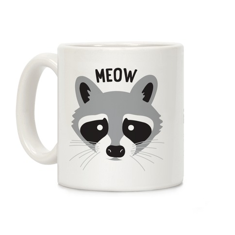 Meow Raccoon Coffee Mug