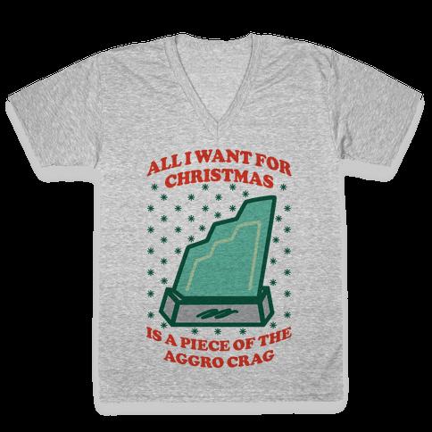 Aggro Crag Christmas V-Neck Tee Shirt