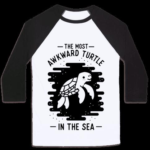 The Most Awkward Turtle In The Sea Baseball Tee