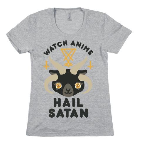 Watch Anime Hail Satan Womens T-Shirt