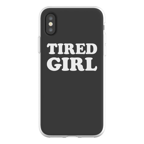 Tired Girl Phone Flexi-Case