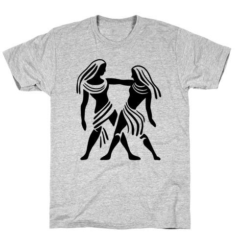Zodiacs Of The Hidden Temple - Gemini Twins T-Shirt