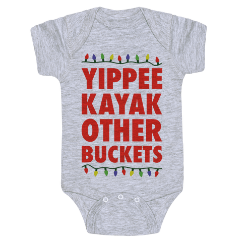 Yippee Kayak Other Buckets Christmas Baby Onesy