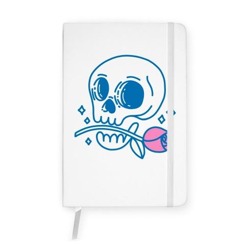 Hopeless Romantic Skull Notebook