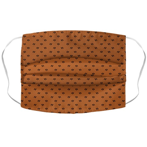 Dainty Dashes Pattern Rust Orange Accordion Face Mask