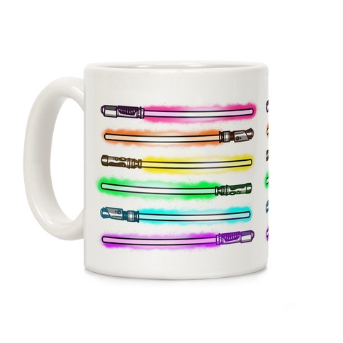 Rainbow Lightsabers Coffee Mug