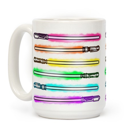 Rainbow Lightsabers Coffee Mug