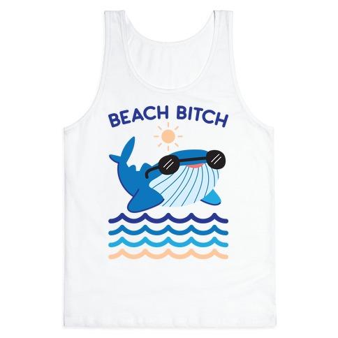 Beach Bitch Whale Tank Top