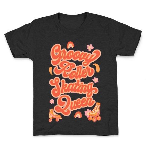 Groovy Roller Skating Queen Kids T-Shirt