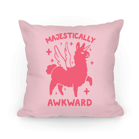 Majestically Awkward Llamicorn Pillow