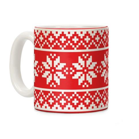 Christmas Sweater Pattern Coffee Mug