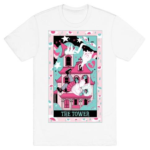 Creepy Cute Tarots: The Tower Haunted House T-Shirt