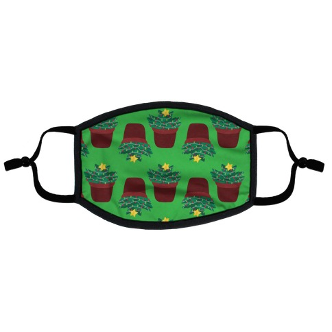 Christmas Succulent Pattern Flat Face Mask