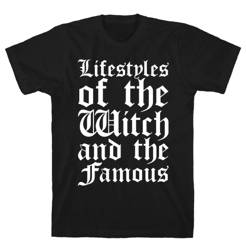 Lifestyles of The Witch and The Famous Parody White Print Mens T-Shirt