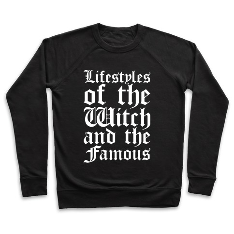 Lifestyles of The Witch and The Famous Parody White Print Pullover