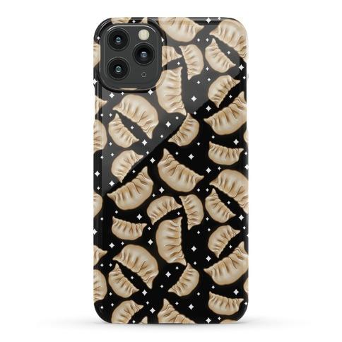 Dumplings Pattern Black Phone Case