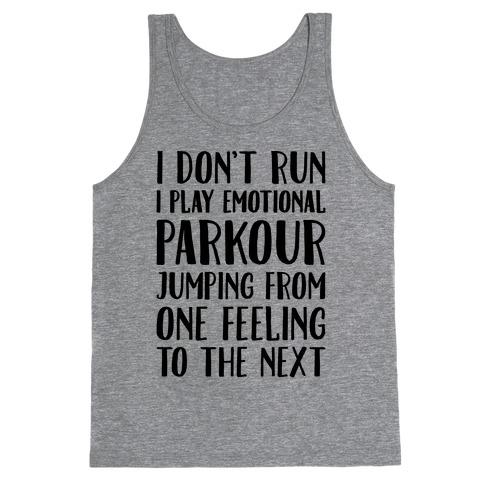 Emotional Parkour Funny Running Parody Tank Top