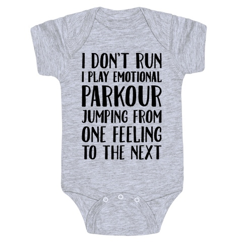 Emotional Parkour Funny Running Parody Baby Onesy