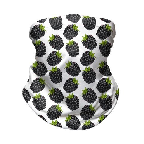 Blackberry Pattern White Neck Gaiter