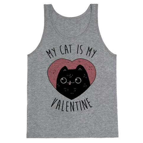 My Cat is My Valentine Tank Top