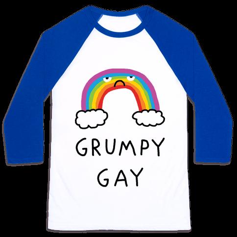 Grumpy Gay Baseball Tee
