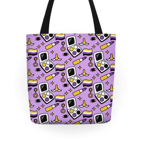 Nonbinary Makeup Pattern Tote