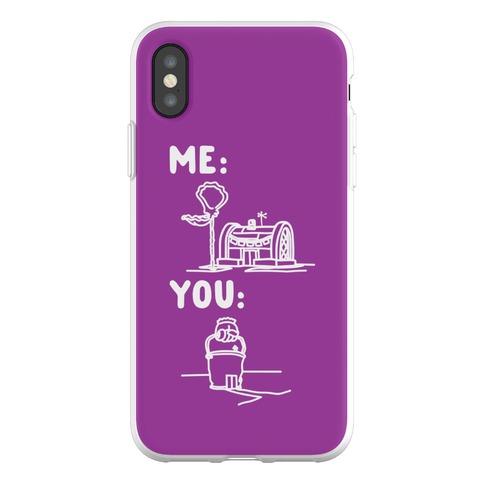 Me Vs. You Crust Chum Meme Parody Phone Flexi-Case