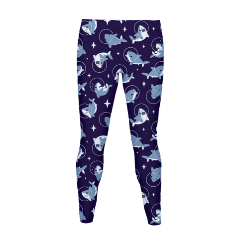 Space Shark Pattern Women's Legging